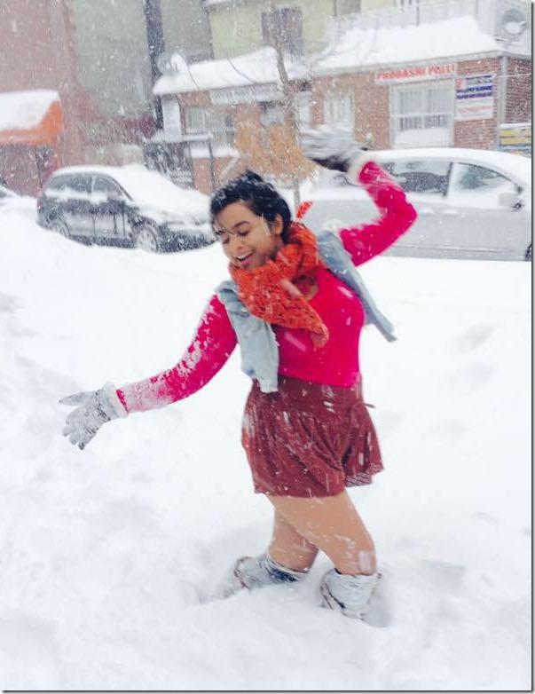 ranjana sharma fun in snow