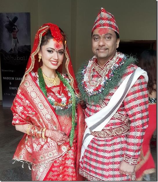simpal khanal marriage photo