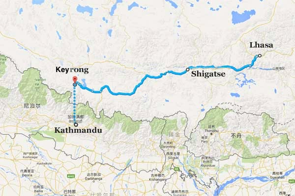 china to nepal railway route