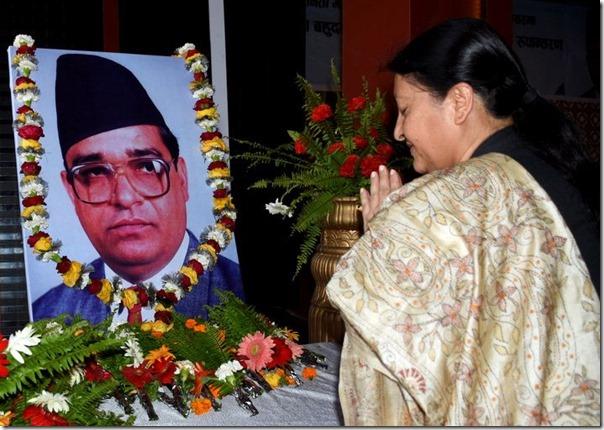 president bidhya devi bhandari remembers her husband madan bhandari