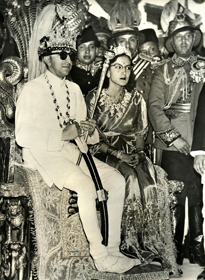 King_Mahendra_and_Queen_Ratna_King's_coronation,_1955