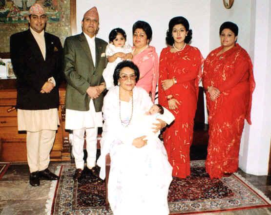 Ratna rajya laxmi shah with Gyanendra family