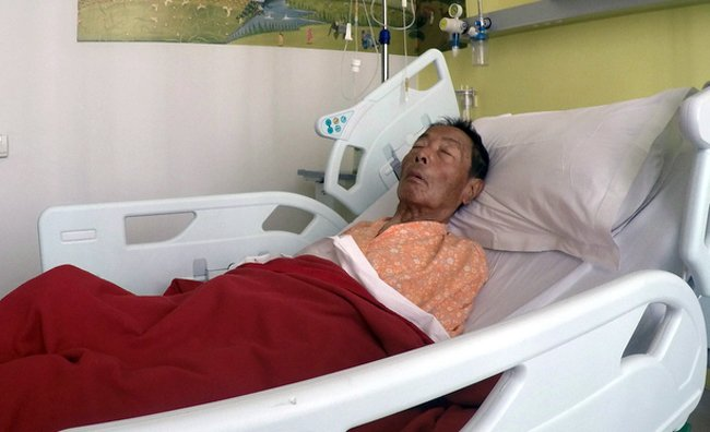 ambar gurung at hospital bed