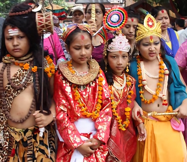 gaijatra kids in different