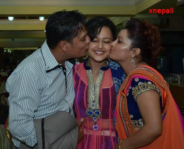 dilip and manju kiss daughter deepika rayamajhi