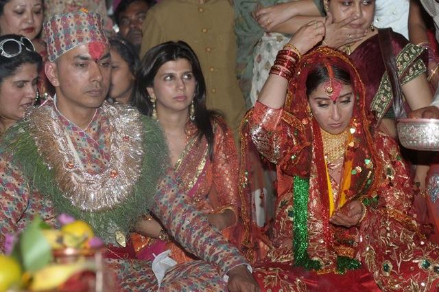 manisha koirala and samrat dahal-marriage- rituals