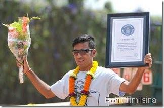 rohit-Timilsina-21-tennis-ball-record