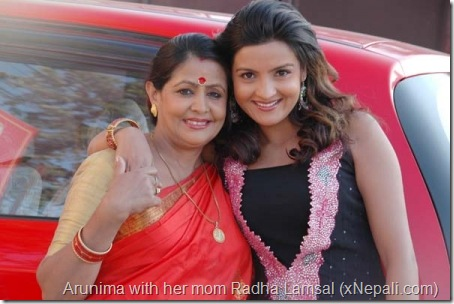 arunima with her mom radha lamsal