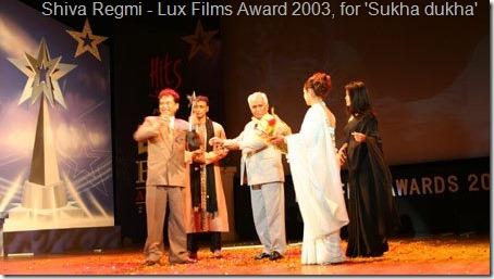 Shiva_regmi_won_lux_award_for_best_director_in_2003