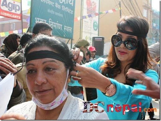 karishma manandhar protest