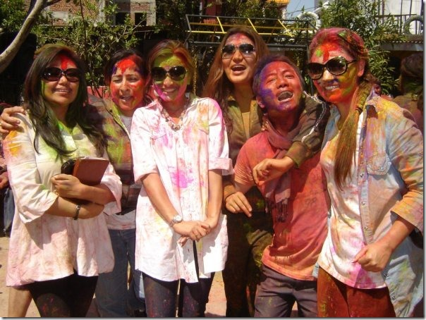 holi at karishma manandhar home