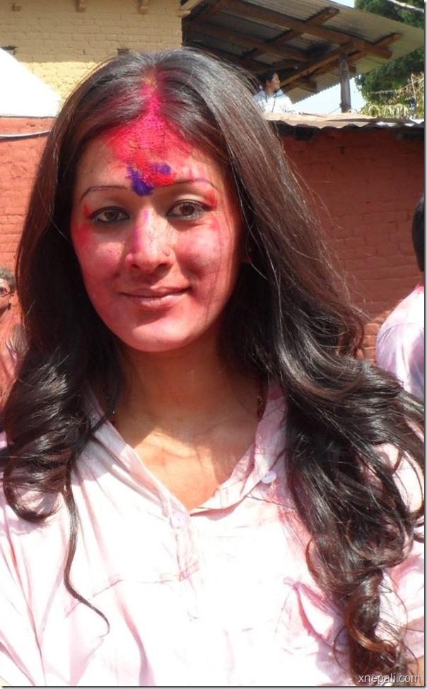 melina manandhar holi 2013