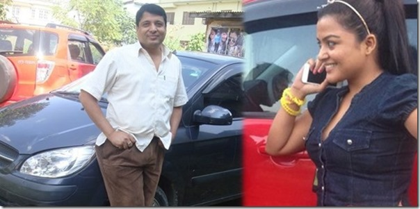 rekha with new car - chhabi