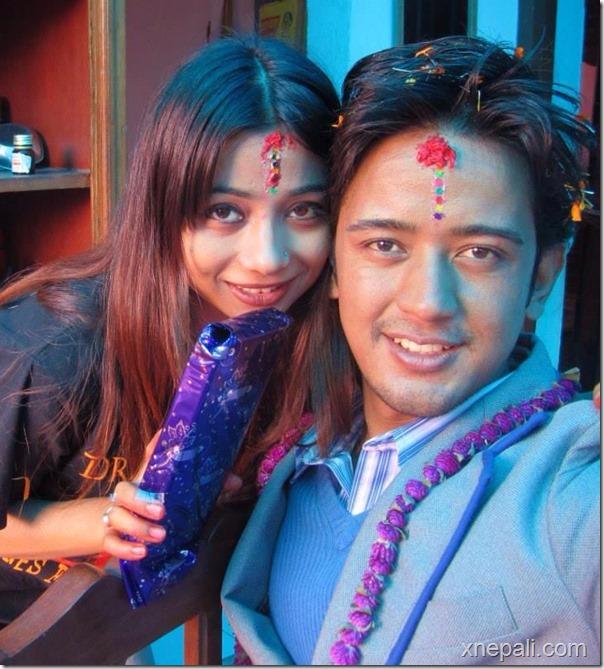 binita baral bhitika with dikpal karki