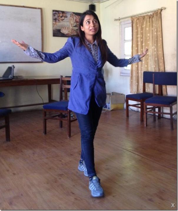 binita baral telling a tale reharsal
