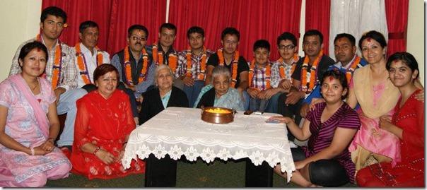 mithila sharma group photo in bhai tika