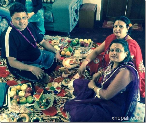 nirmal sharma celebrates bhai tika
