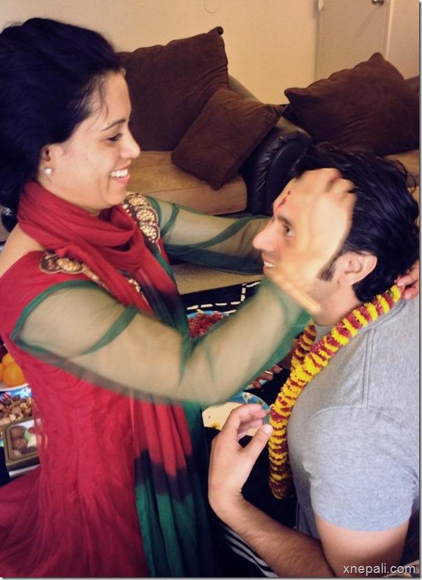 raj ballav koirala with sister sugan