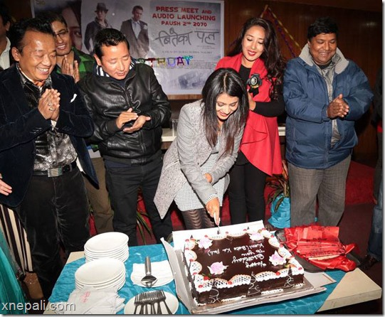 keki adhikari birthday cake cutting biteka pal