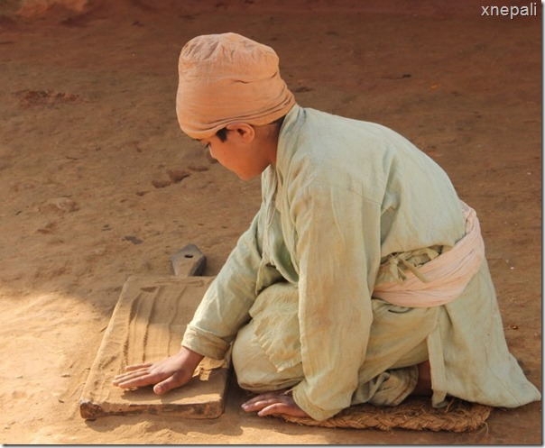 Jhola shooting scenes - kid playing with dust