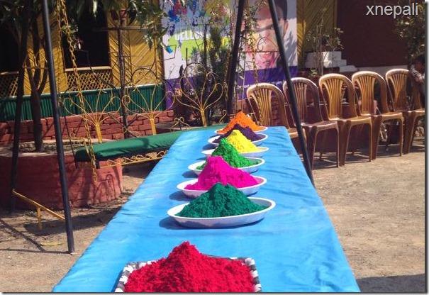 Karishma manandhar preparing holi celebration (1)