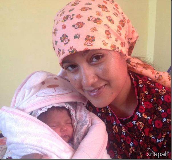 kunjana ghimire suntali smiles with her daughter