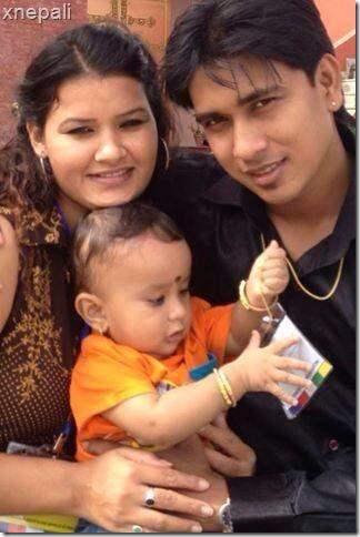 manju mahat - husband and child
