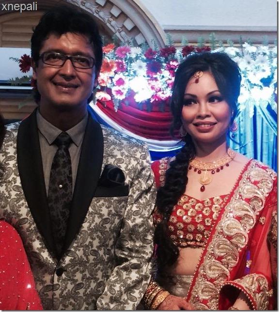 rajesh hamal reception party rajesh with Madhu bhattarai