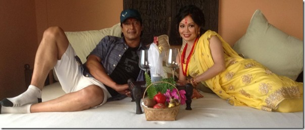 The bed, the first night (suhagraat) of Rajesh Hamal after ...