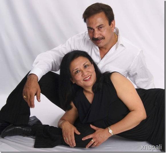 bhuwan_with_vijaya_kc_wife