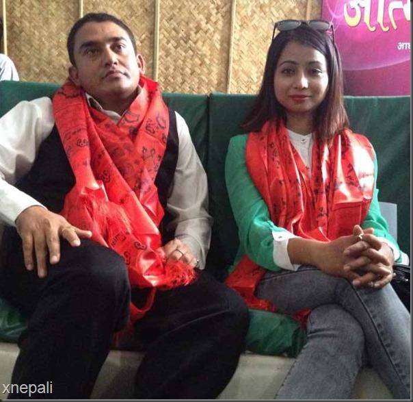binita baral and sitaram kattel dhurmus good will ambassadors