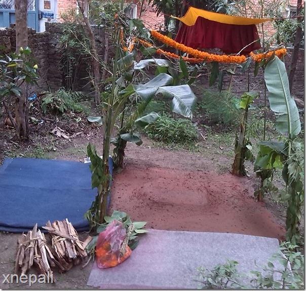 marriage mandap richa singh thakuri and gajendra