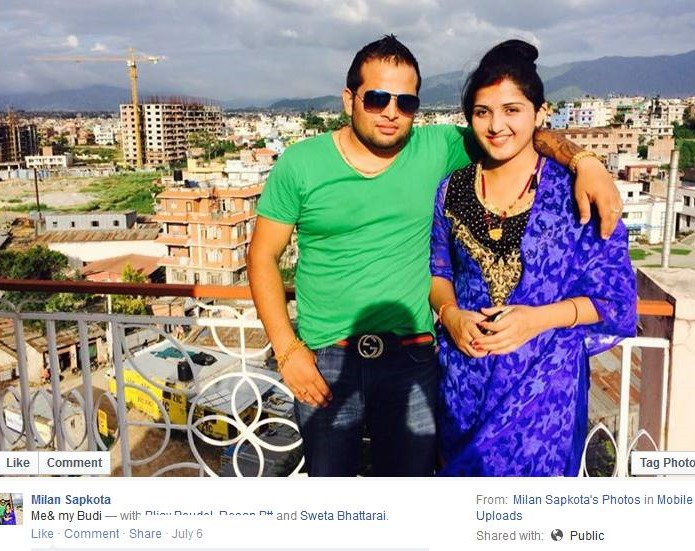 milan sapkota and sweta bhattarai married couple