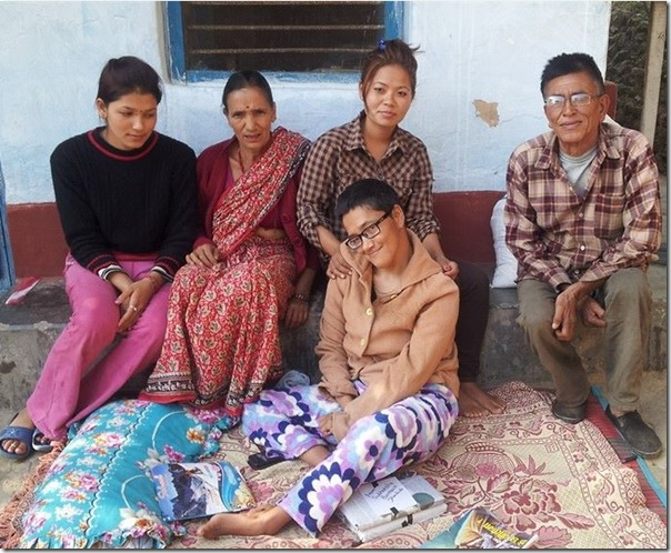 jhamak ghimire with family