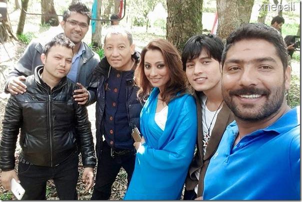 jharana bajracharya music video shooting