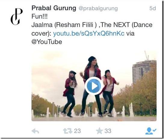prabal gurung tweets resham filili dance
