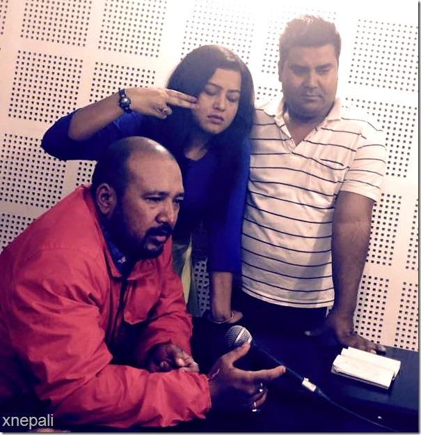 Rekha thapa rampyari song recording