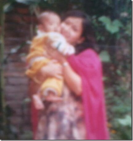 little samyam puri with mother