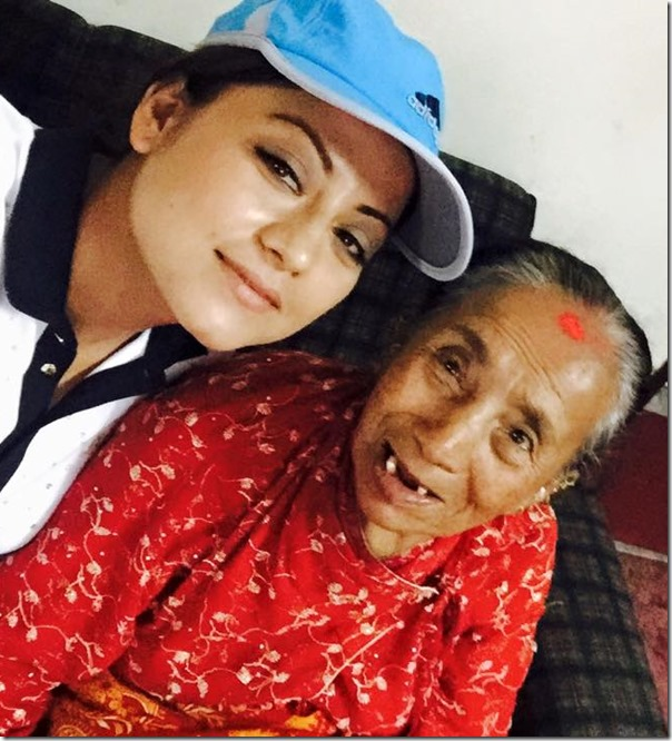 sweta khadka with jagat kumari