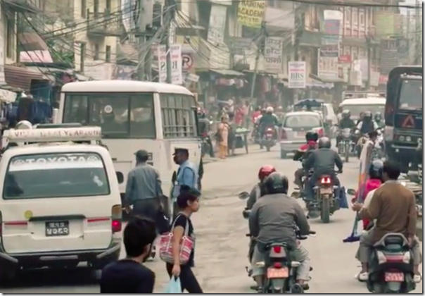 kathmandu streets in Miss Earth India video
