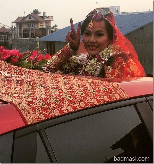 zenisha moktan goes home after marriage