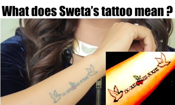 shweta khadka tattoo meaning