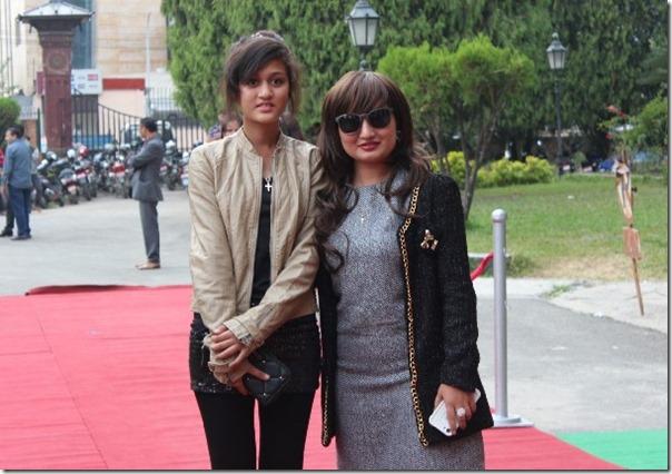 Anju pant and her daughter paritoshika siwakoti