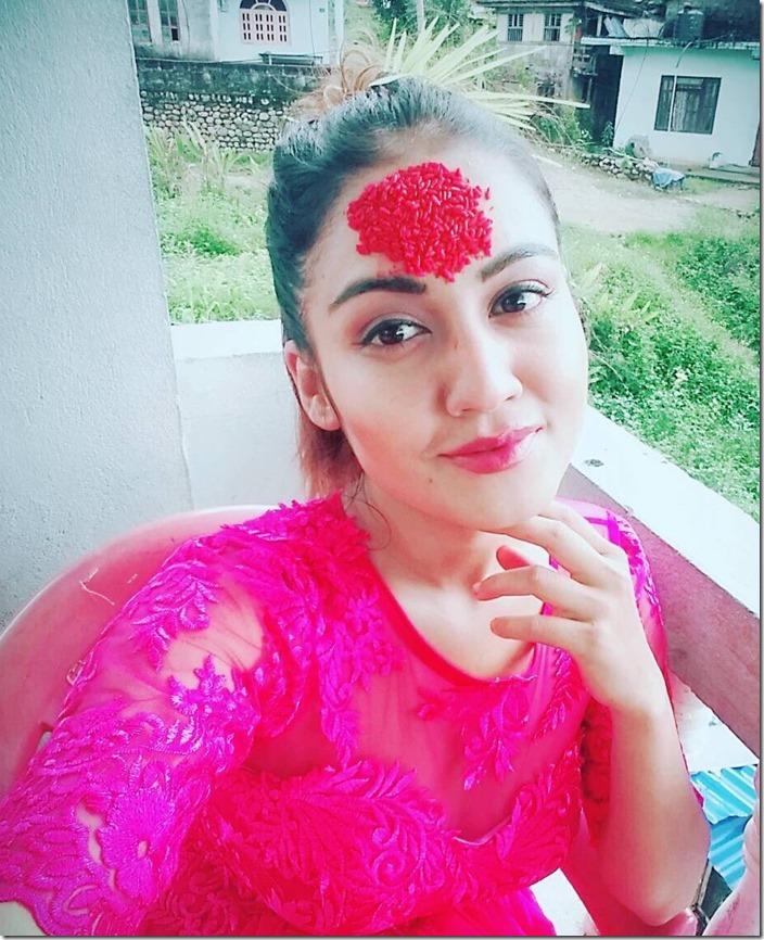 surabina karki Dashain 2016