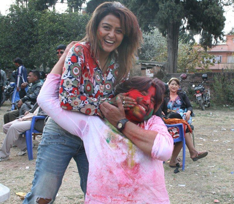 Holi 2010 Rekha Thapa