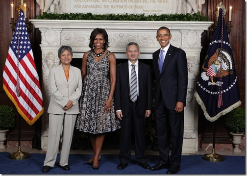 Prime Minister Dr. Baburam Bhattarai and Hisila Yami with the US President Obama and Mrs. Obama taken on 21st September 2011