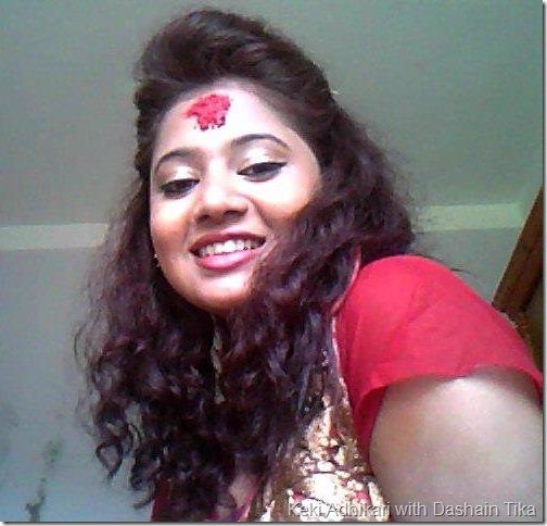Keki Adhikari_dashain_tika