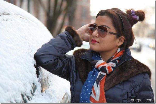 rekha - us flag- print scarf -new york