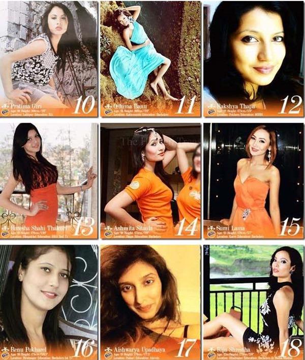 miss nepal 2013 finalist 2