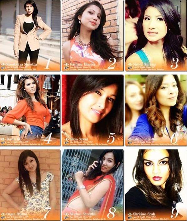 miss nepal 2013 finalists